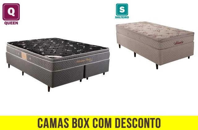 Camas box c/até 40% de desconto no Ricardo Eletro