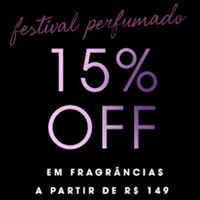 15% de desconto em Perfumes na Sephora