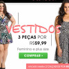 3 vestidos por R$ 59,99 na Posthaus