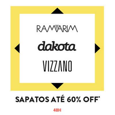 Calçados Dakota, Ramarim e Vizzano c/até 60% de desconto na Dafiti