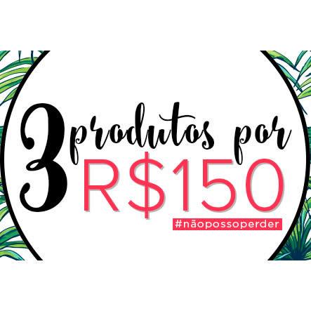 3 produtos por R$ 150 na Passarela