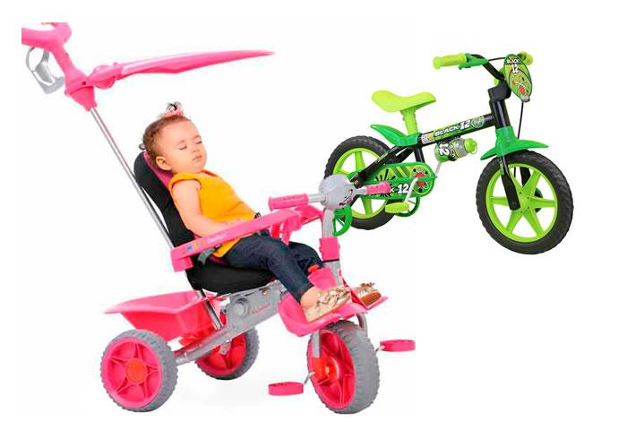 Bicicletas e triciclos c/até 50% de desconto