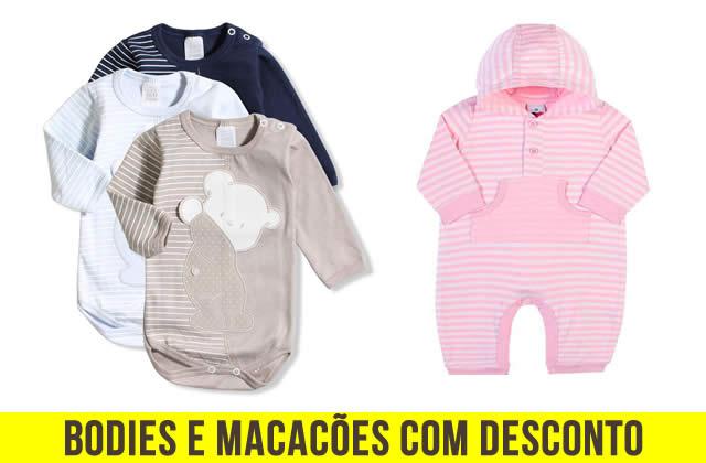 Bodies e macacão c/até 40% de desconto na Bebê Store