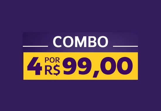 Combo Netshoes: Leve 4 itens por R$ 99