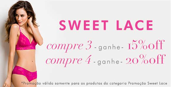 Compre 4 peças Sweet Lace e ganhe 20% de desconto