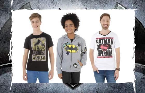 Camisas Batman vs Superman na C&A