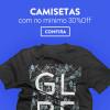 Camisetas a partir de 30% de desconto na Dafiti Sports