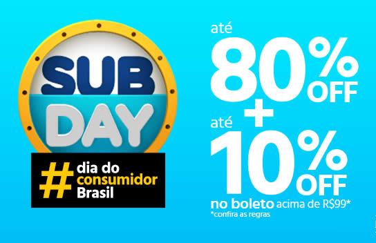 Dia do Consumidor: Até 80% off + cupom de 10% no Submarino