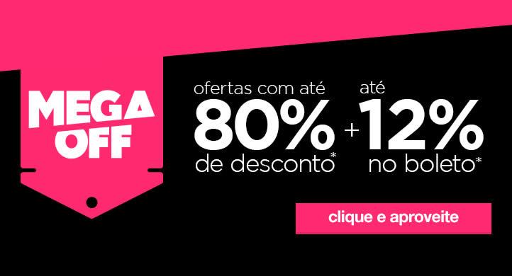 Mega OFF Americanas - Até 80% off + cupom 10%