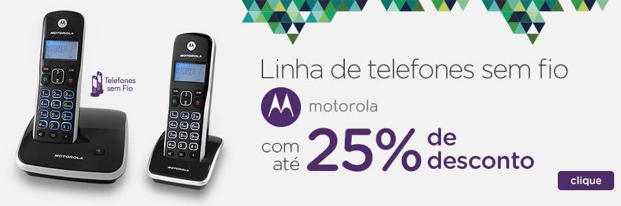 Telefones sem fio Motorola c/até 25% de desconto no Magazine Luiza
