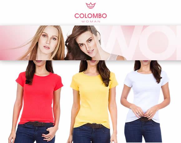 Camisetas femininas a partir de R$ 19,99 na Camisaria Colombo