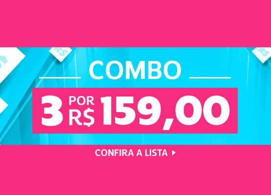 Combo Netshoes: 3 produtos por R$ 159