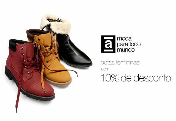 Cupom de 10% em botas femininas na Americanas