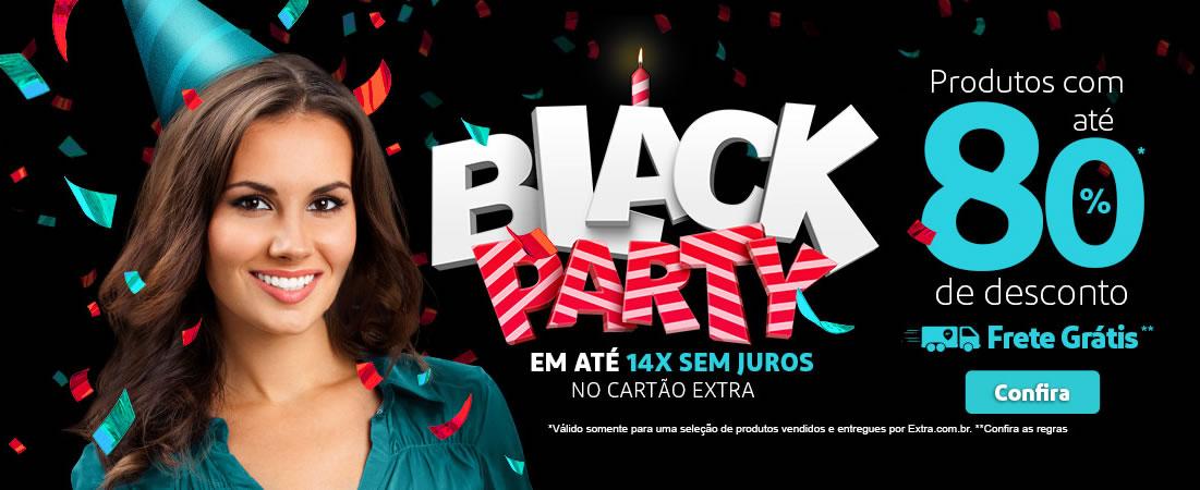 Black Party Extra: Até 80% Off + cupom de até 20% Off
