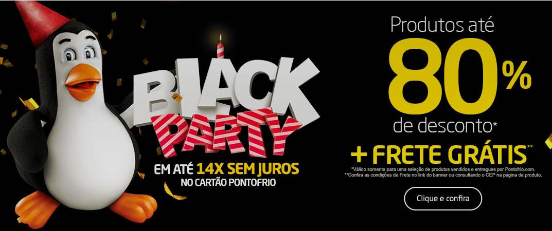 Black Party Pontofrio: Até 80% Off + cupom de até 20% Off