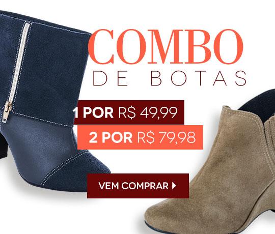 2 botas por R$ 79,98 na Posthaus