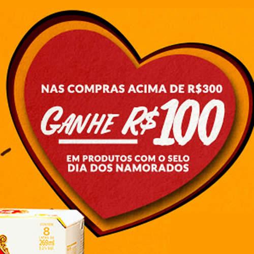 Cupom de R$100 em compras* acima de R$300 no Empório da Cerveja