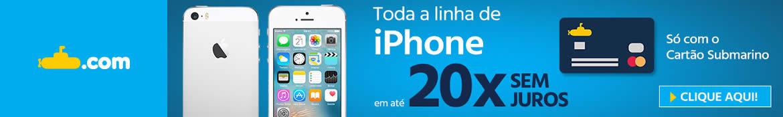 iPhone 20x Sem Juros no Submarino