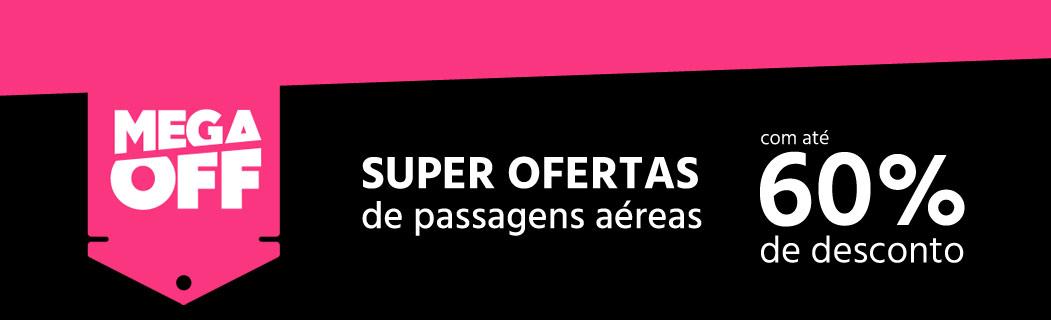 Mega OFF Submarino Viagens - Passagens c/até 60% de desconto