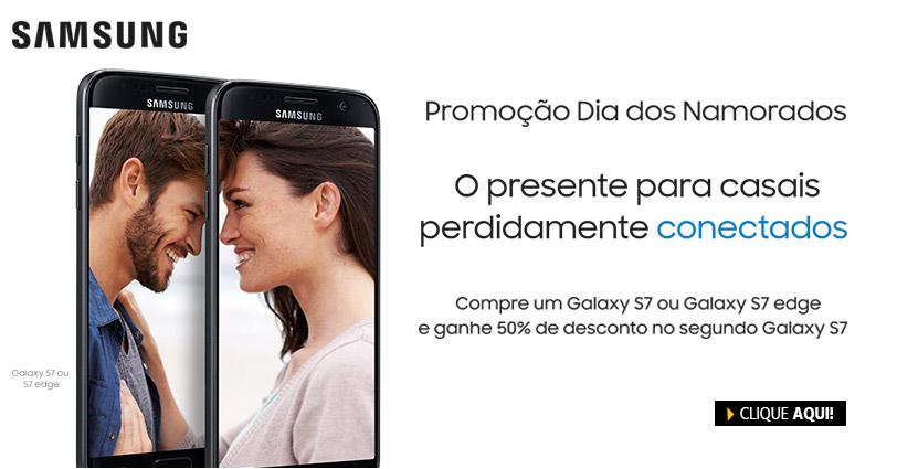 Compre 1 Galaxy S7 ou S7 Edge e ganhe 50% de desconto na compra de outro Galaxy S7 no Submarino