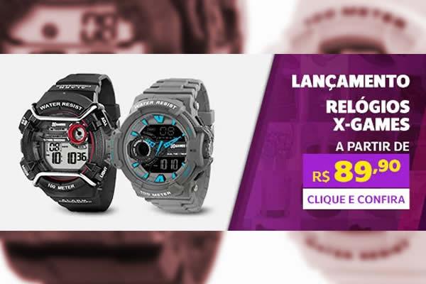 Relógios X-Games a partir de R$89,90 na Netshoes