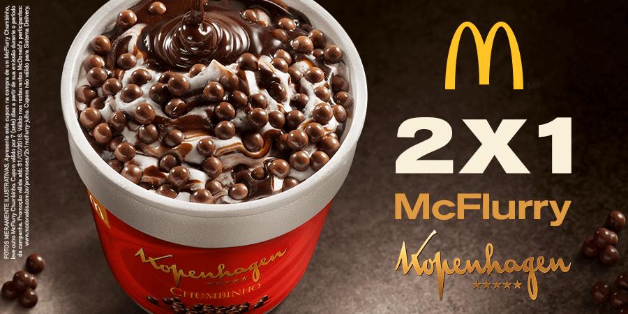 Leve 2, Pague 1: Compre McFlurry Chumbinho e ganhe outro no McDonald's