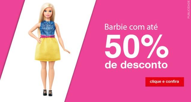 Barbie com até 50% de desconto na Americanas