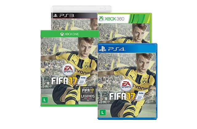 FIFA 17 p/ Xbox One, PS4, Xbox 360 ou PS3 com desconto no boleto na Americanas