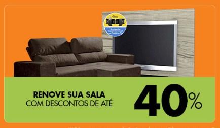 Móveis para Sala c/até 40% de desconto na Casas Bahia