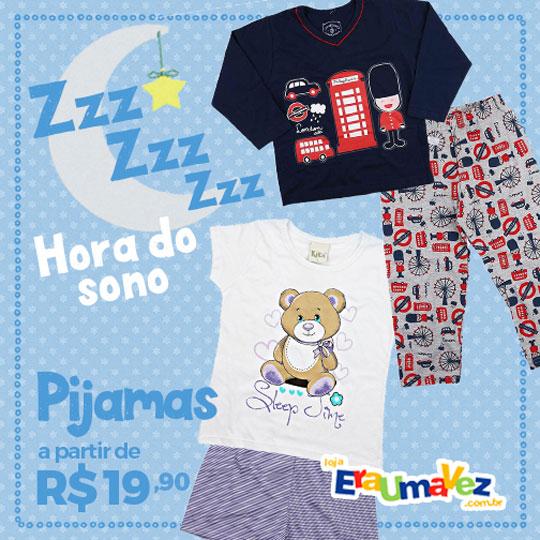 Pijamas a partir de R$19,90 na Loja Era Uma Vez