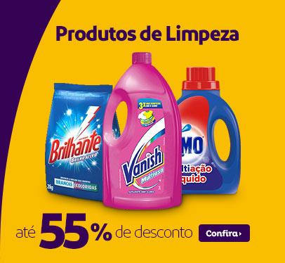 Produtos de Limpeza c/até 55% de desconto no Extra