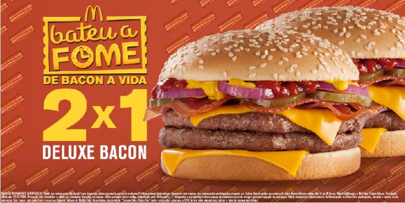 Leve 2, Pague 1: Compre Deluxe Bacon Avulso e ganhe outro
