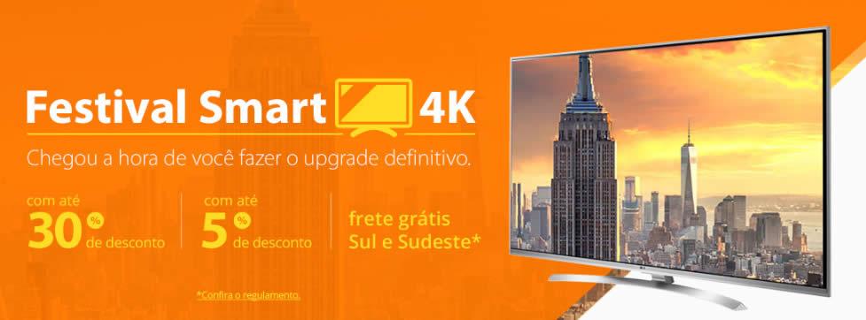 Festival Smart TVs 4K com até 30% de desconto no Walmart