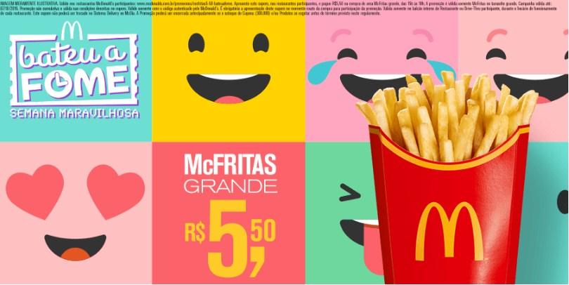 McFritas Grande por R$5,50* no McDonald's