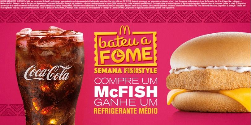 Compre McFish Avulso e ganhe 1 refrigerante médio