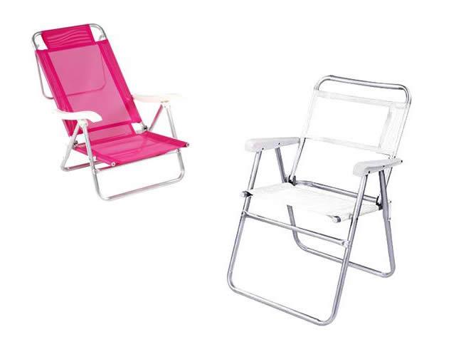 Cadeiras de Praia c/até 30% de desconto no Submarino