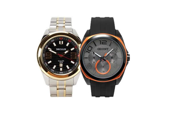 Saldão de relógios masculinos no Extra