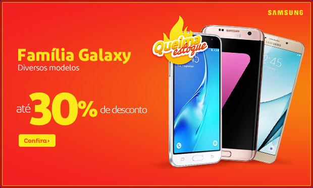 Smartphones Samsung Galaxy c/até 30% de desconto no Extra