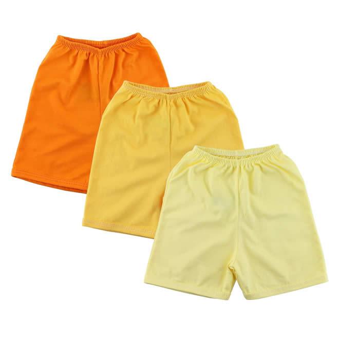 Kits com 3 shorts para bebês na Era Uma Vez