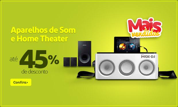 Aparelhos de Som e Home Theater c/até 45% de desconto no Extra