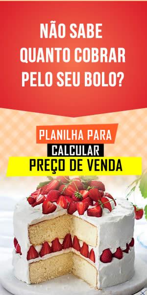Planilha para calcular preço de venda de Bolo