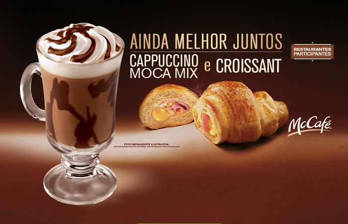 Cappuccino Moca Mix + Croissant no McCafé