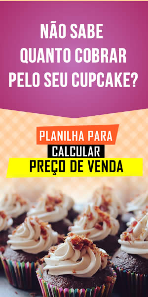 Planilha para calcular preço de venda de Cupcake