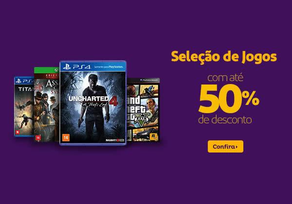 Até 50% de desconto em jogos para Xbox One, PS4, Xbox 360 e PS3 no Extra