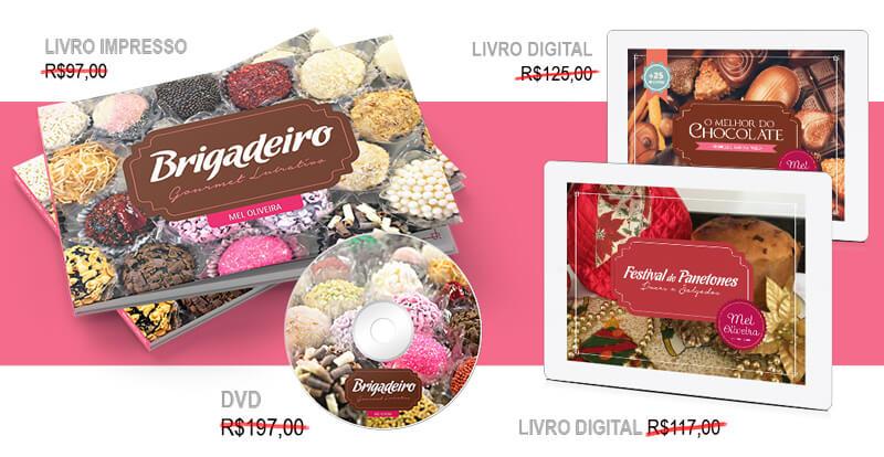 Livro, DVD, E-Books do Curso de Brigadeiro Gourmet da Mel Oliveira