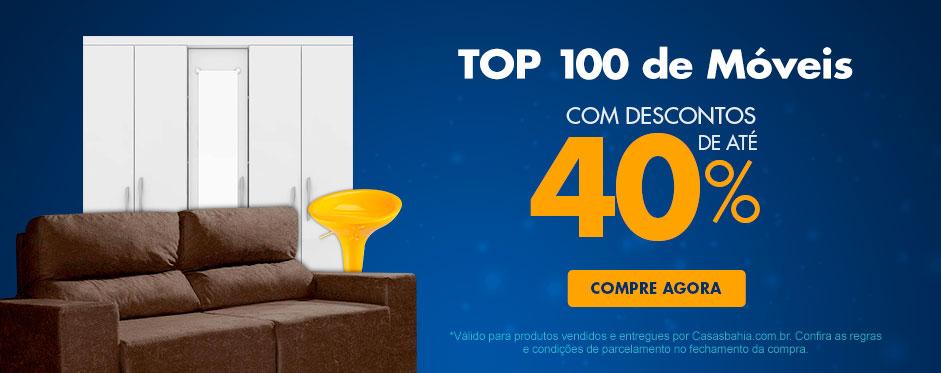 Top 100 Móveis c/até 40% de desconto na Casas Bahia