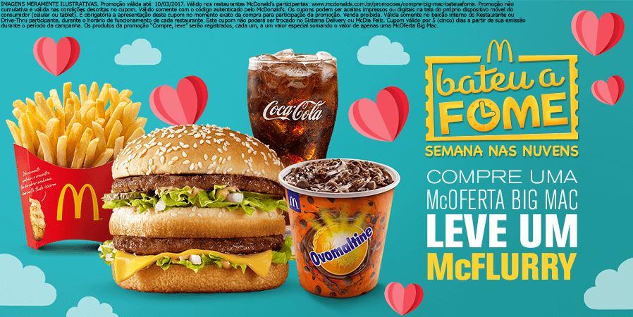 Compre McOferta Big Mac e Leve um McFlurry