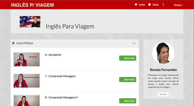 Curso de Inglês para Viagens online - Prof. Renata Fernandes
