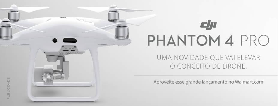 Drone Phantom 4 Pro com desconto no Walmart