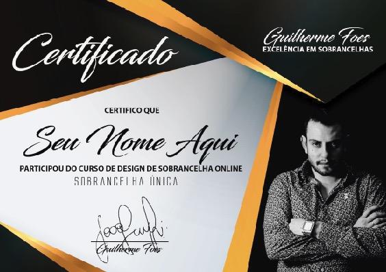 Certificado Curso Online Sobrancelha Perfeita - Guilherme Foes